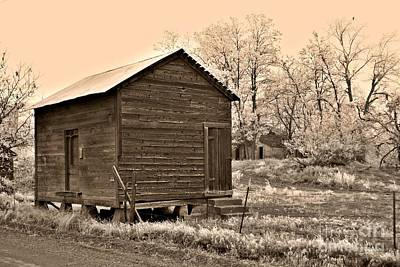 Photograph - Frosty Morning Sepia 3 by Chalet Roome-Rigdon
