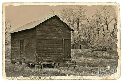 Mixed Media - Frosty Morning Sepia 5 by Chalet Roome-Rigdon