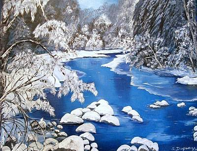 Waterscape Painting - Frosty Morning by Sharon Duguay