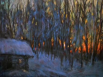 Frosty Morning Art Print by Valery Kosorukov