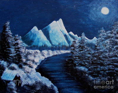 Frosty Night In The Mountains Original by Barbara Griffin