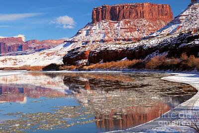 Photograph - Frosty Red Rock Reflections by Adam Jewell