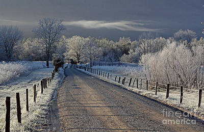 Frosty Sparks Lane Art Print by Douglas Stucky