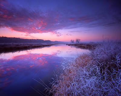 Frosty Sunrise Art Print by Ray Mathis