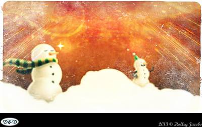 Digital Art - Frosty The Snowman by Holley Jacobs