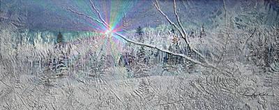 Frosty Window Distant Sun Original