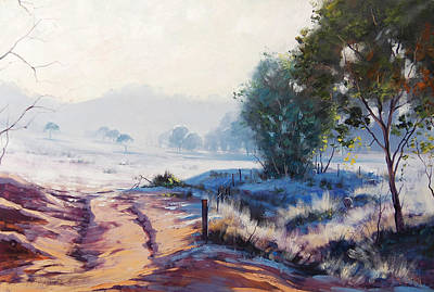 Hamptons Painting - Frosty Winter Light by Graham Gercken