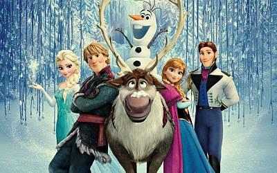 Frozen 255 Art Print by Movie Poster Prints