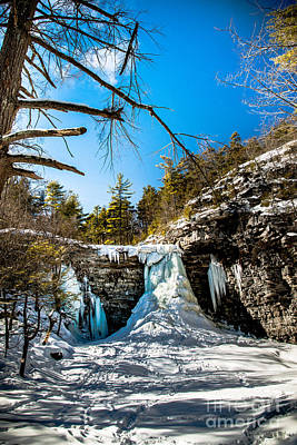 Photograph - Frozen Awosting Falls by Jim DeLillo