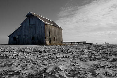 Photograph - Frozen Barn by Dylan Punke
