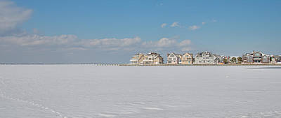 Photograph - Frozen Barnegat Bay From Seaside Park Nj by Beth Sawickie