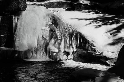 Dappled Sunlight Photograph - Frozen Basin by Susan Capuano