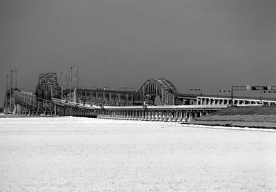 Frozen Bay Bridge Art Print