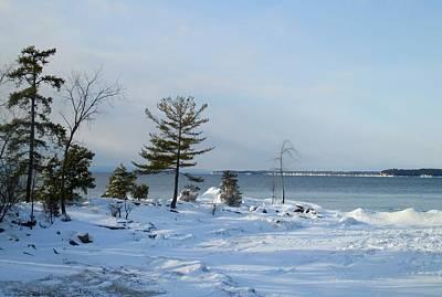 Photograph - Frozen Bay by Ishana Ingerman