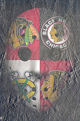 Frozen Blackhawks Art Print by Joe Hamilton