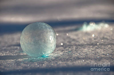 Photograph - Frozen Blue by Cheryl Baxter