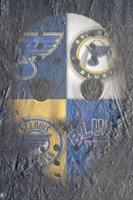 Stanley Cup Photograph - Frozen Blues by Joe Hamilton