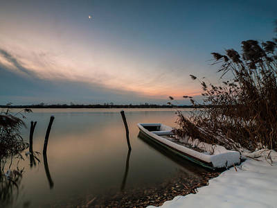 Photograph - Frozen Boat IIi by Davorin Mance