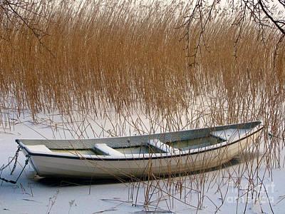 Baar Photograph - Frozen Boat by Lutz Baar
