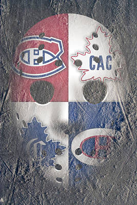 Frozen Canadiens Art Print