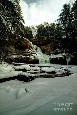 Photograph - Frozen Cedar Falls by Haren Images- Kriss Haren