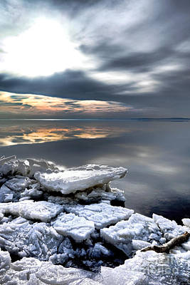 Chesapeake Bay Photograph - Frozen Chesapeake by Olivier Le Queinec