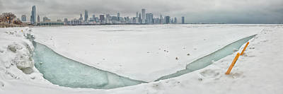 Chicago Skyline Photograph - Frozen Chicago by Adam Romanowicz