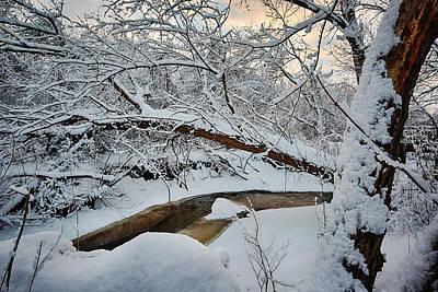 Solitude Photograph - Frozen Creek by Sebastian Musial