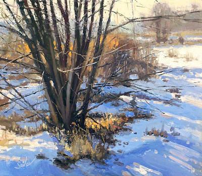 Painting - Frozen Creek Tag Alder by Larry Seiler