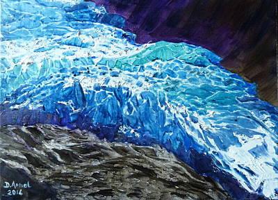 Chamonix Painting - Frozen by Danielle Arnal