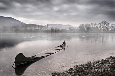 Boat Photograph - Frozen Day by Yuri Santin