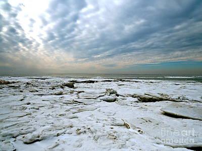 Photograph - Frozen Delaware Bay  by Nancy Patterson
