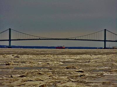 Photograph - Frozen Delaware River by Ed Sweeney