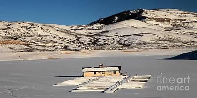 Blue Mesa Reservoir Photograph - Frozen Dock by Adam Jewell