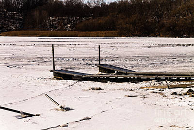 Photograph - Frozen Dock by William Norton