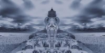 Storm Digital Art - Frozen Dream On The Coast by Dan Sproul