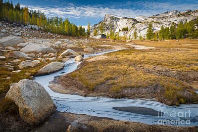 Tamarack Photograph - Frozen Enchantments Creek by Inge Johnsson