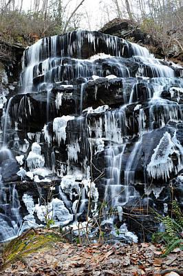Photograph - Frozen Falls by Adam LeCroy