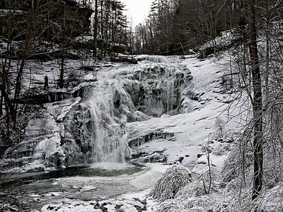 Photograph - Frozen  Falls by Carol Erikson