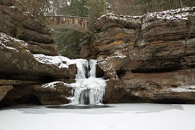 Photograph - Frozen Falls by Dale Kincaid