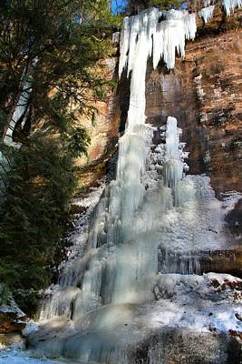 Photograph - Frozen Falls In Hocking Hills by Dan Sproul
