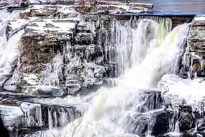 Frozen Falls Art Print by Quinton Hapke