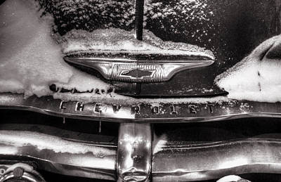 Photograph - Frozen Grille Black And White by Ken Smith
