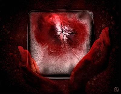 Warm Digital Art - Frozen Heart by Gun Legler