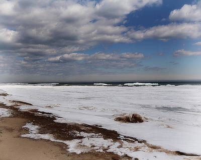 Photograph - Frozen Huron Shore 2 by Scott Hovind