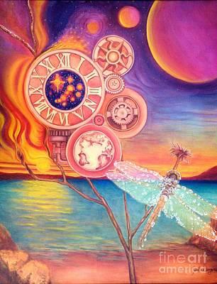 Fire Gear Painting - Frozen In Time by Julia Dangaran