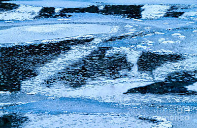 Photograph - Frozen Lake Abstract by Stuart Gordon