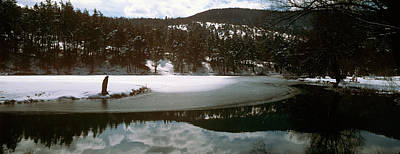 Cote Dazur Photograph - Frozen Lake In Winter In French Riviera by Panoramic Images