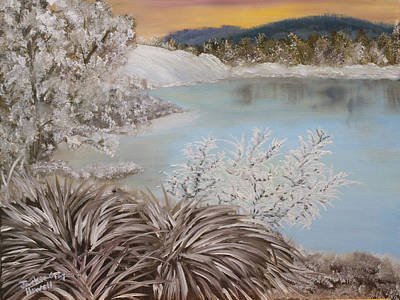 Painting - Frozen Lake by J Cheyenne Howell