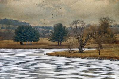 Frozen Lake Print by Kathy Jennings